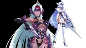 KOS-MOS and T-elos from Project X Zone by KOS-MOSxOmega