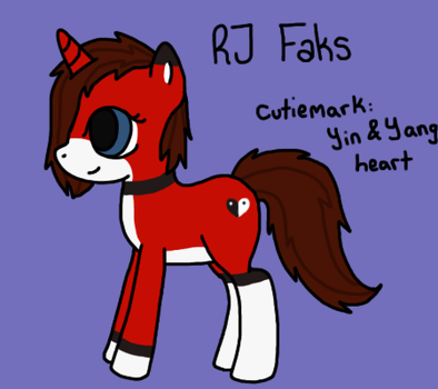 If RJ Faks was a Pony by RJFaks
