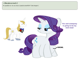 Ask Rarity question #3 by RarityVore