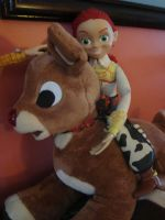 Jessie on Rudolph by spidyphan2