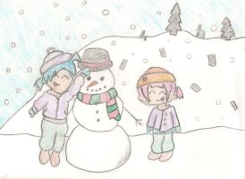 Snow Man And Chibi by Uxie77