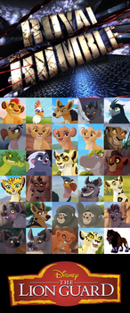 The Lion Guard 30 Characters Royal Rumble by NightmareBear87