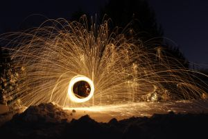Steel Wool and Snow 2 by WillLeavey