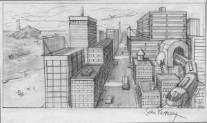 Perspective Study 1 by Newbeing