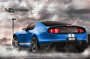GT500 Mustang Concept yasidDESIGN rear by yasiddesign