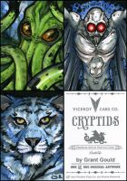 CRYPTIDS sketch cards by grantgoboom