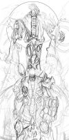Darksiders sketch for contest by FredHooper