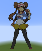 Rosa in Minecraft - Larger Version by CyberTheHedgehog270