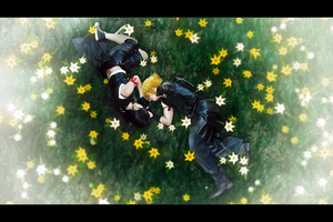 Flower Field - Cloud and Tifa by hugyucom