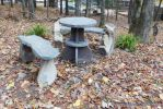 Stone benches and tables by Devine-Escapes