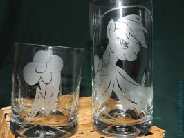 Rainbow Dash Tumbler Pair by Letator