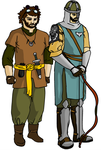 Troll Hunter and Knight by Pjczar