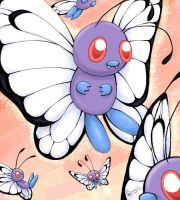 Flight of Butterfree by Sharulia