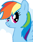 Rainbow Dash In the Clouds Ms Paint! by Draw2134