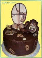 chocolate child's cake by BeautyCanBeDecieving
