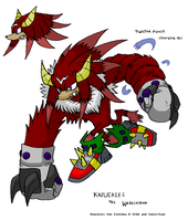 Knuckles the Werechidna by ProjectHazoid