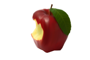 Bitten Apple Png by Moonglowlilly