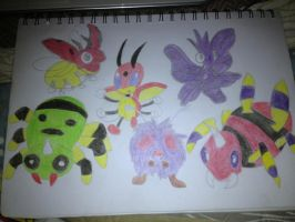 Pokemon Bug types 2 by Necrophilliacness
