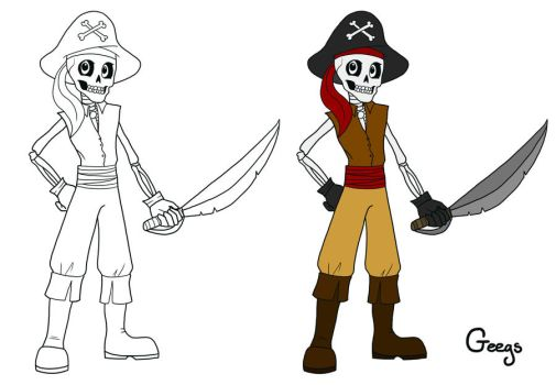Pirate Skeleton by Geegs