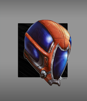 Helmet Commission Sketch by Ihlecreations