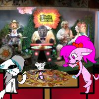 we took taomouse to chuck e cheese by katsii-the-cat