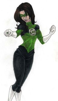 Dc: Green Lantern girl OC by kimberly-castello