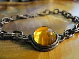 Golden Fire Silver Chain Bracelet by HouseOfAlletz