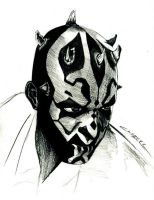 darth maul sketch by leatris