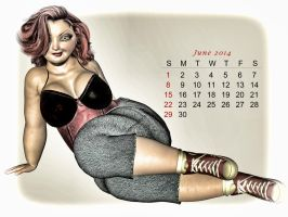Pinup Number Twenty-Seven: Calendar Girl (June) by wcpelon