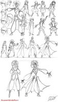 Character design: Terricula and Eris by DreamWithinTheHeart