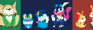 Kalos Starters by ecokitty