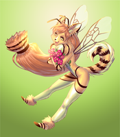 Commission - kitty honey bee by Pirate-Cashoo