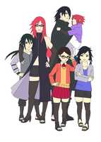 Family Uchiha Next Gen Color by SunakiSabakuno