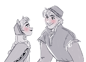 Anna and Kristoff by snarkies