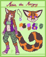 Maia the margay by Neotheta