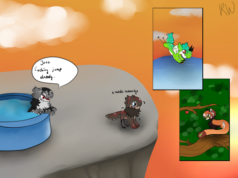 Funzone June: Cliff diving by RoscoeWolfie