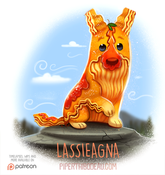 Daily Paint 1533. Lassieagna by Cryptid-Creations