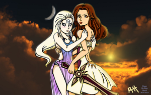 League of Legends: Diana and Leona [BG] by TheBeakerz