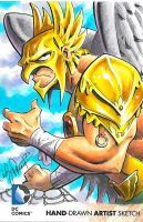 hawkman Redemption Sketch Card by andypriceart