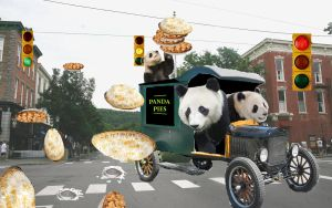 Panda Pie Delivery by AVRICCI