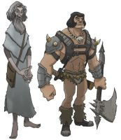 old wizard and barbarian by jimmymcwicked