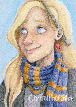 HP: Luna Lovegood ACEO by CrystallineColey