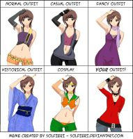 Yuffie Outfit Meme by LillumSama