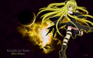 Golden Darkness Wallpaper by briandy