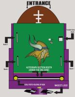 MN Vikings Booth Layout by davilesdesigns