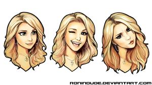Silly Quickie - Hayden Panettiere Expressions by RoninDude
