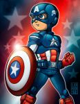 Lil Avengers - Captain America by lordmesa