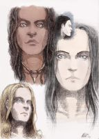 Female Faces - sketches by Mueslistopheles