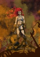 The Savage Sword,.. of Red Sonja - Color by pureluck13