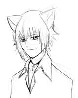 ikuto head sketch by LyricaBelachium